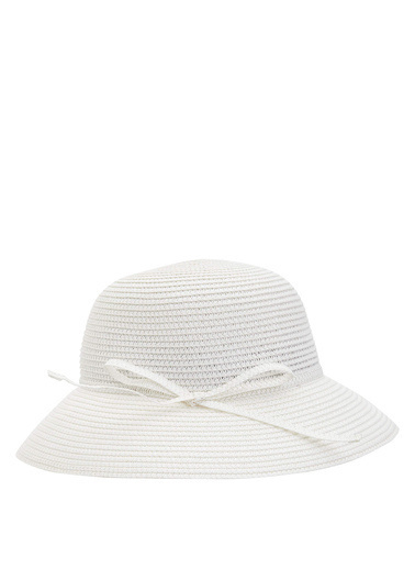 DeFacto Hasır Şapka Beyaz